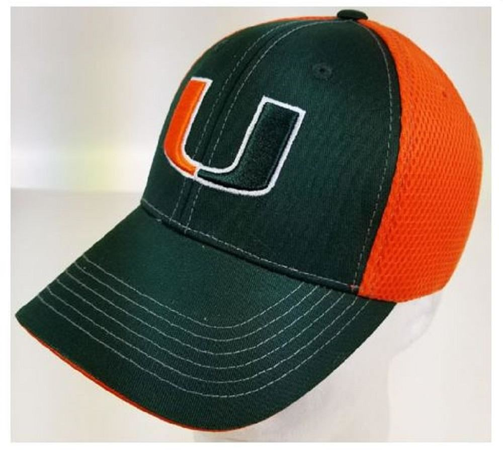 Miami Hurricanes- Mesh Back Two Tone Frat Boy Cap - Hats