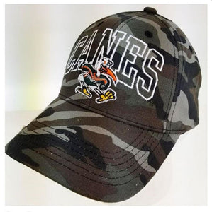 Miami Hurricanes Wide Out Camo Cap - Hats