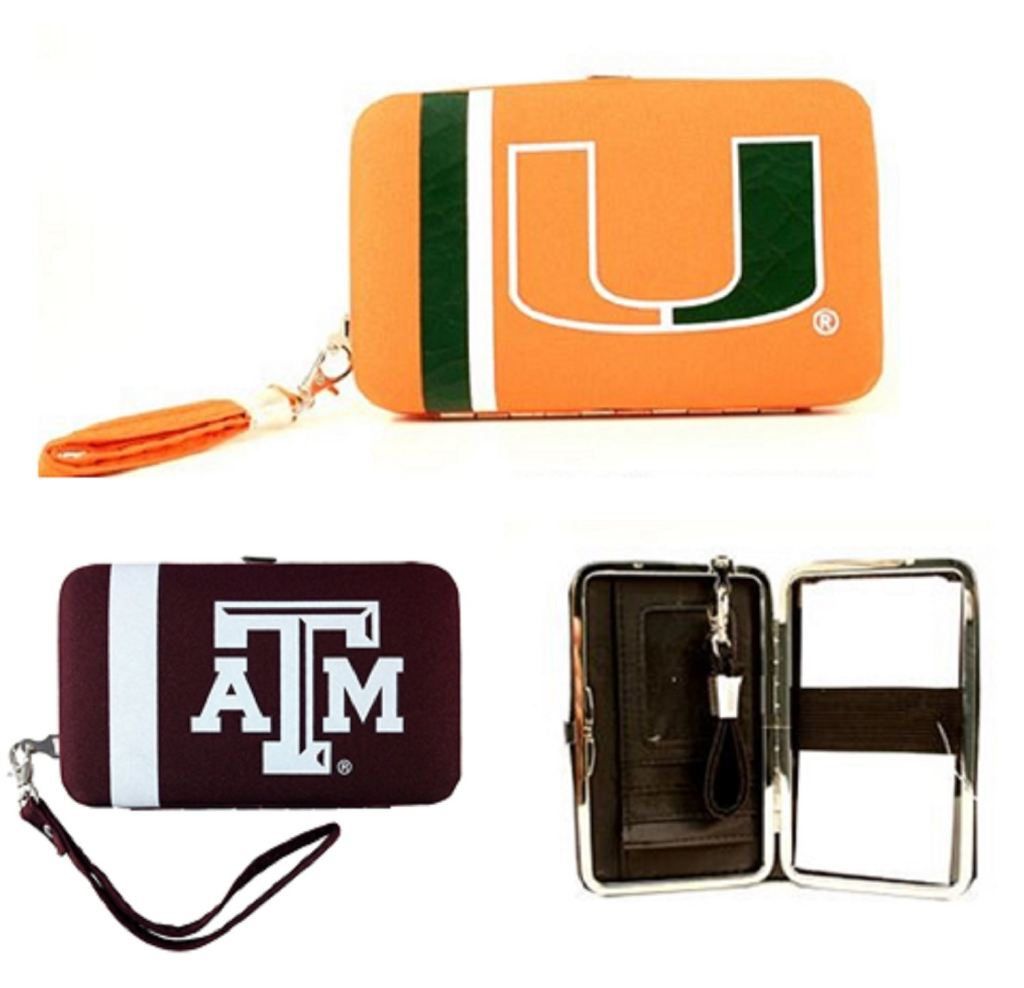 Ncaa Distressed Shell Wristlet: Multiple Teams Available - Novelties