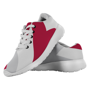 Forward Momentum by LATRA Running Shoes in Crimson, Grey, and White
