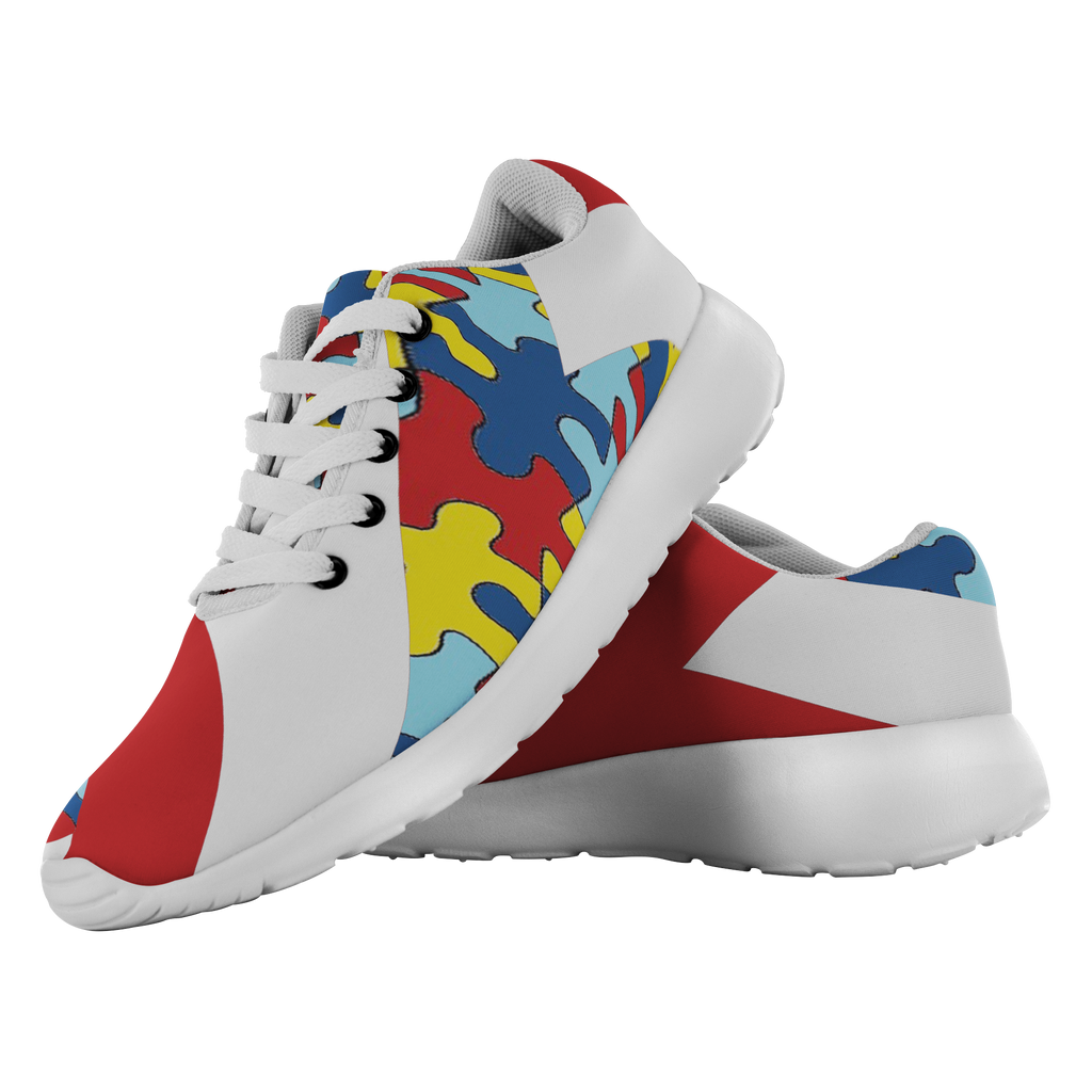 Forward Momentum by LATRA Running Shoes for Autism Awareness in Red