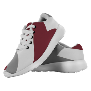 Forward Momentum by LATRA Running Shoes in Maroon, Grey, and White