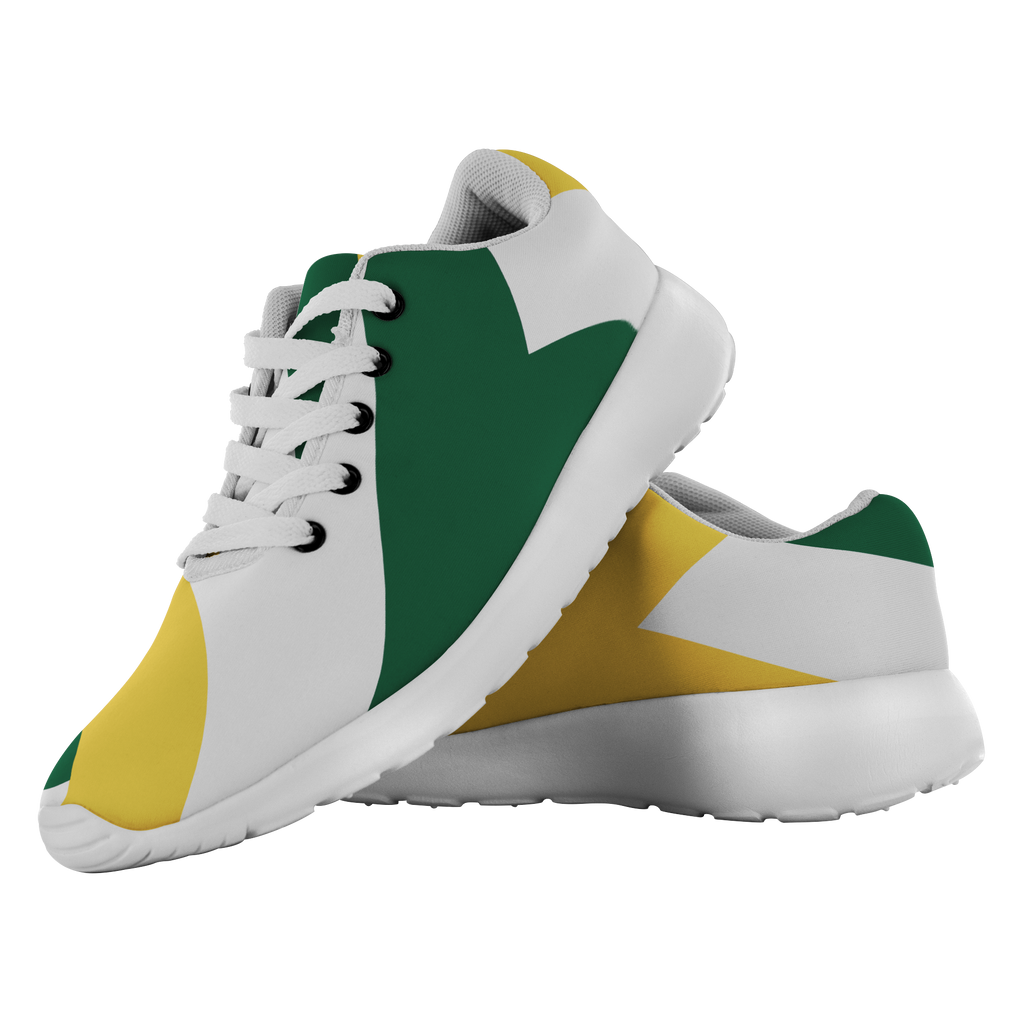 Forward Momentum by LATRA Running Shoes in Green, Gold, and White