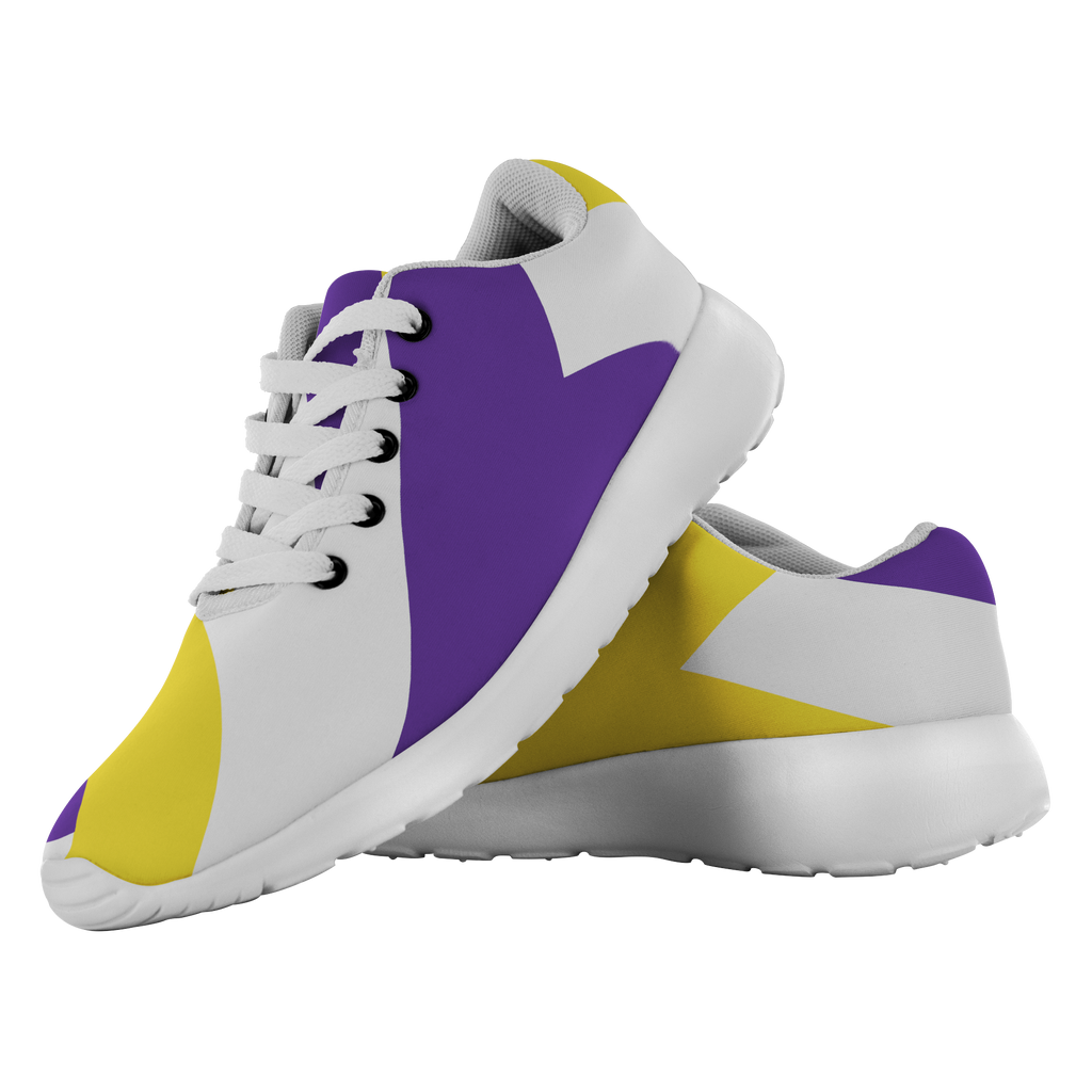 Forward Momentum by LATRA Running Shoes in Purple, Gold, and White