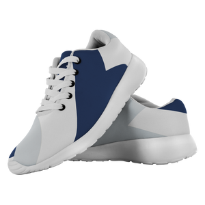 Forward Momentum by LATRA Running Shoes in Navy, Silver, and White