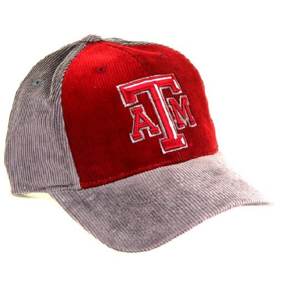 Texas A&m Aggies Cap- Maroon & Grey Corduroy - Hats