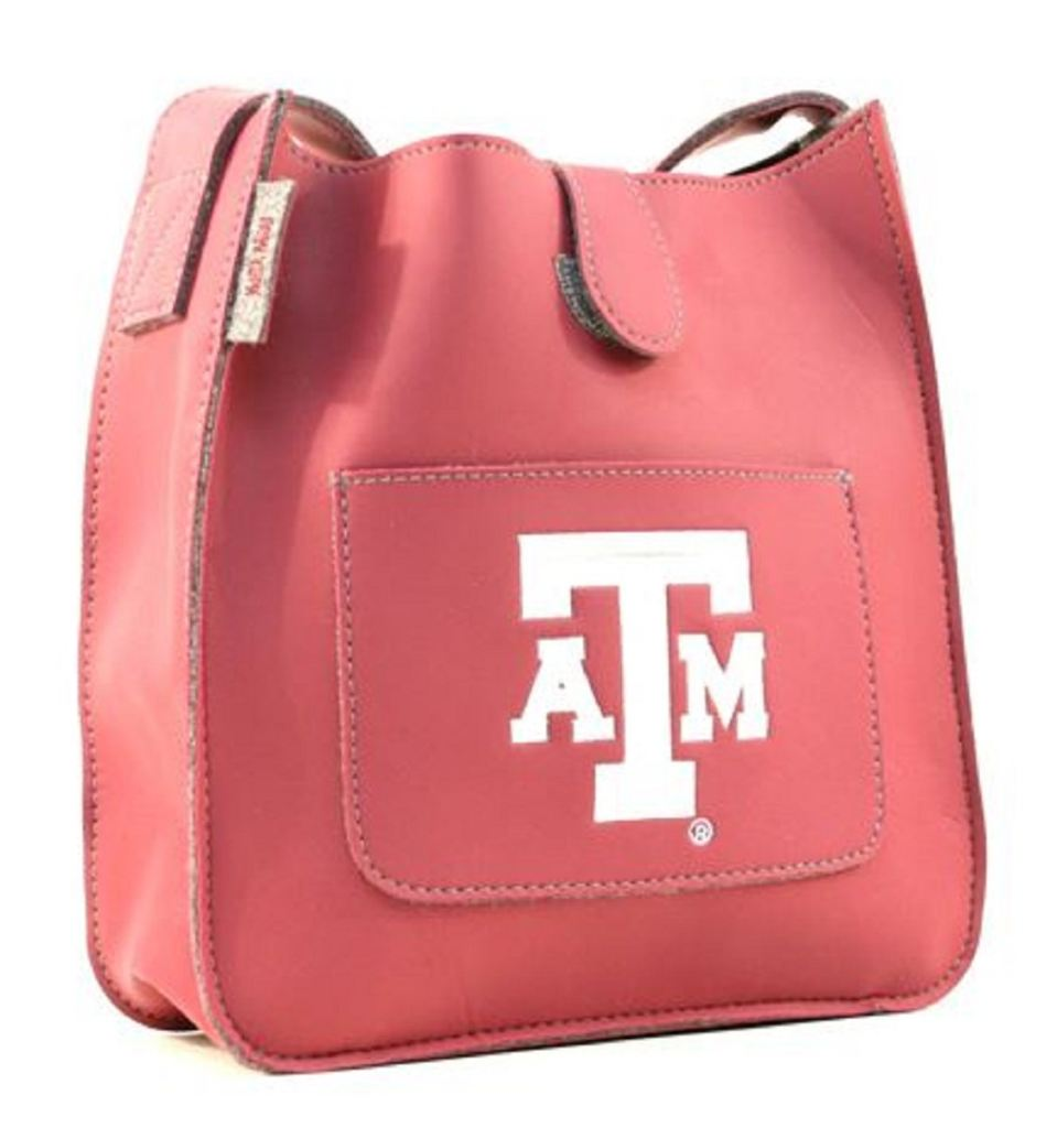 Texas A&m Leather Style Satchel Purse - Novelties