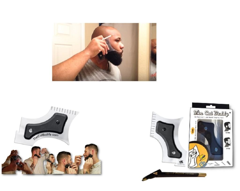 The Cut Buddy Beard And Haircut Shaping Guide + Barber Line-Up Pencil - Grooming