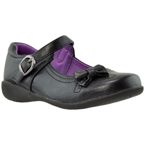 Toddler & Youth Mary Jane Flat With Bow Accent - Black - 1 /