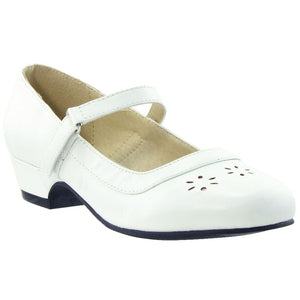 Toddler & Youth Mary Jane Pump - White - 1 /