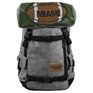DownTime by LATRA Miami Football 25L Penryn Backpack