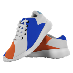 Forward Momentum by LATRA Running Shoes in Blue, Orange, and White