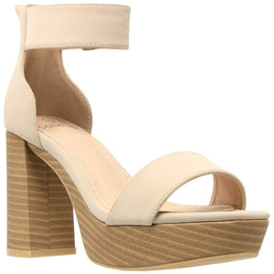Womens Ankle Strap High Heel Platform Sandal - 10 / Taupe - Shoes