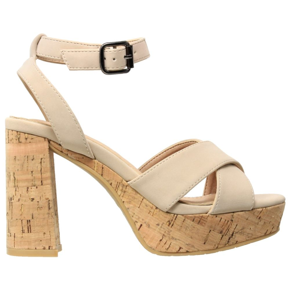Womens Ankle Strap Platform Cork Sandal - Shoes