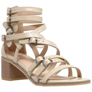 Womens Block Heel Gladiator Sandal - 10 / Taupe - Shoes