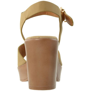 Womens Block Heel Platform Sandal - Shoes