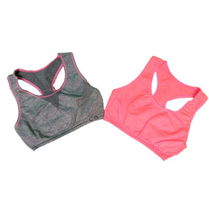 Womens C9 By Champion Girls Racerback Sports Bra 2 Pack - Grey And Pink/pink / Small