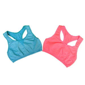 Womens C9 By Champion Girls Racerback Sports Bra 2 Pack - Teal/pink / Small