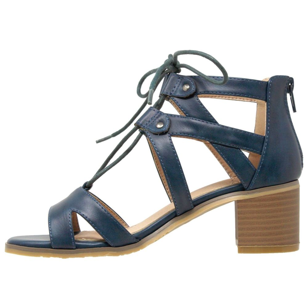 Womens Lace Up Block Heel Sandal - Shoes