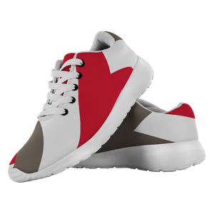 Forward Momentum by LATRA Running Shoes in Red, Pewter, and White