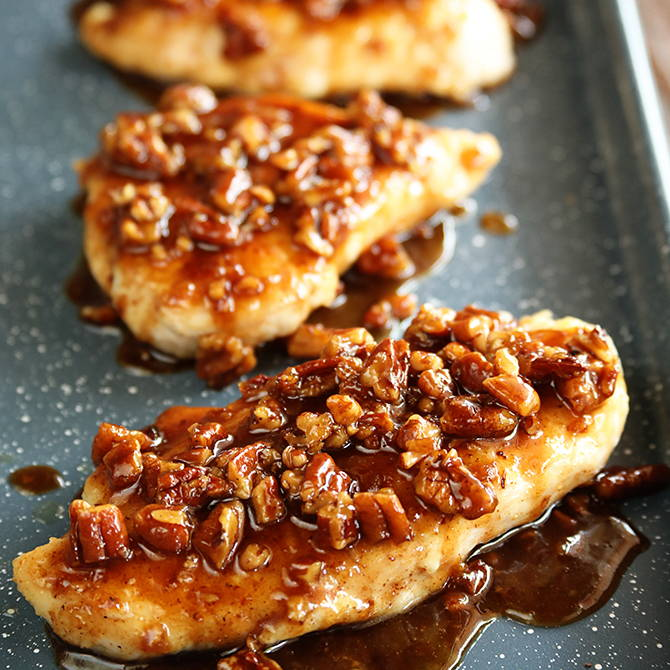 Baked Chicken with Pecans