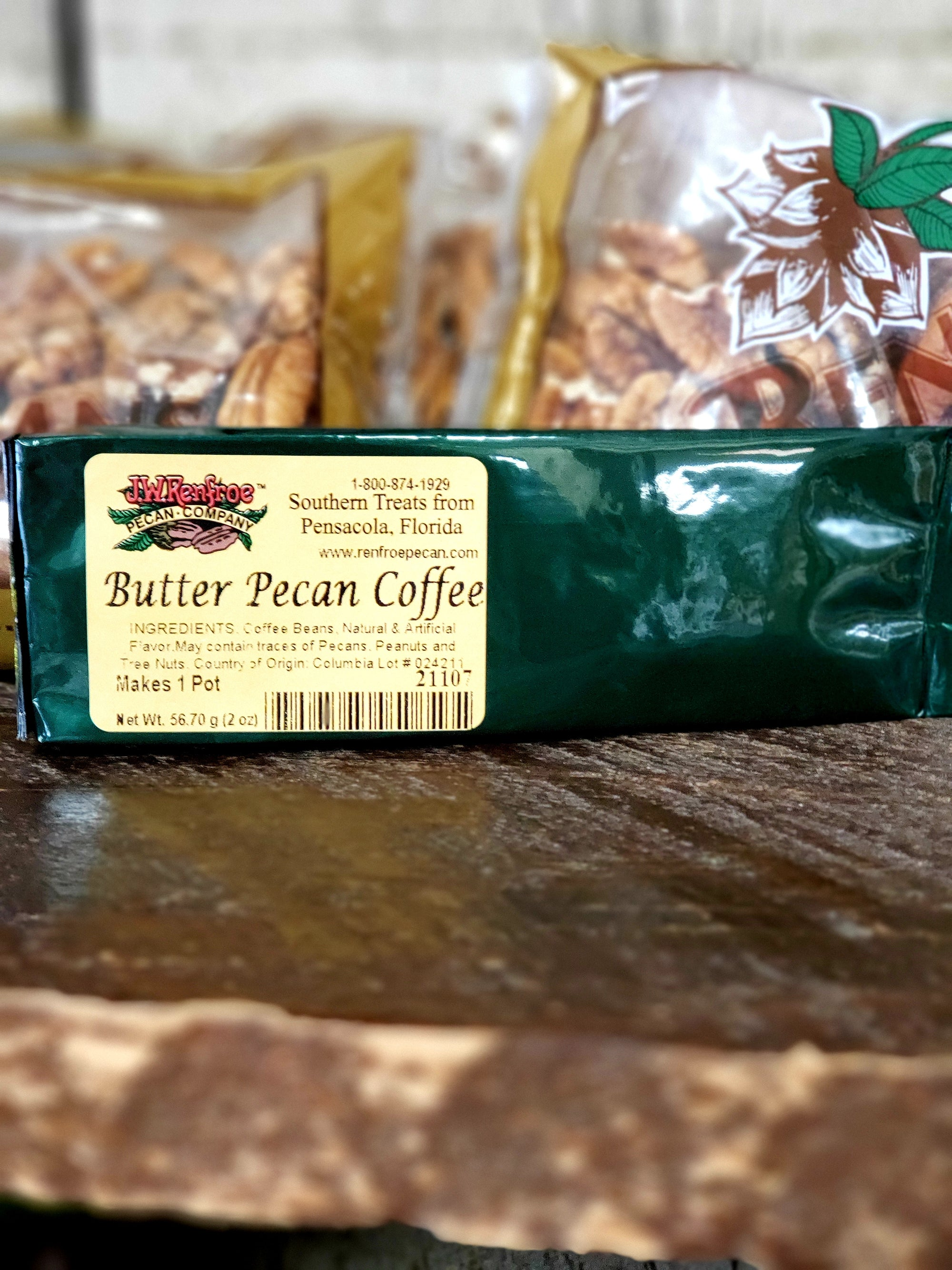 Butter Pecan Coffee 2OZ - GROUND - 21107 - 21107