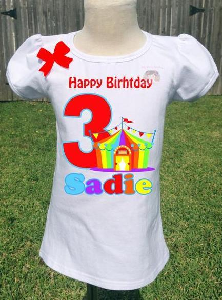 Carnival Birthday Shirt Personalized Circus Party
