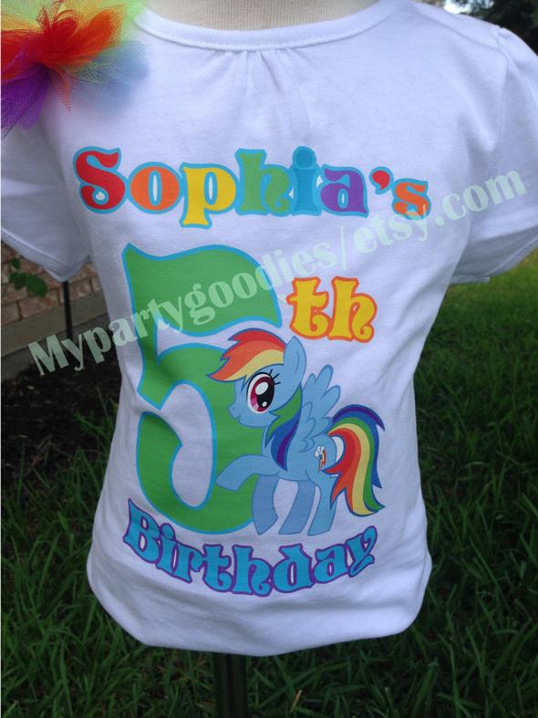 Birthday Girl Shirt Rainbow Dash ShirtRainbow ShirtMLP