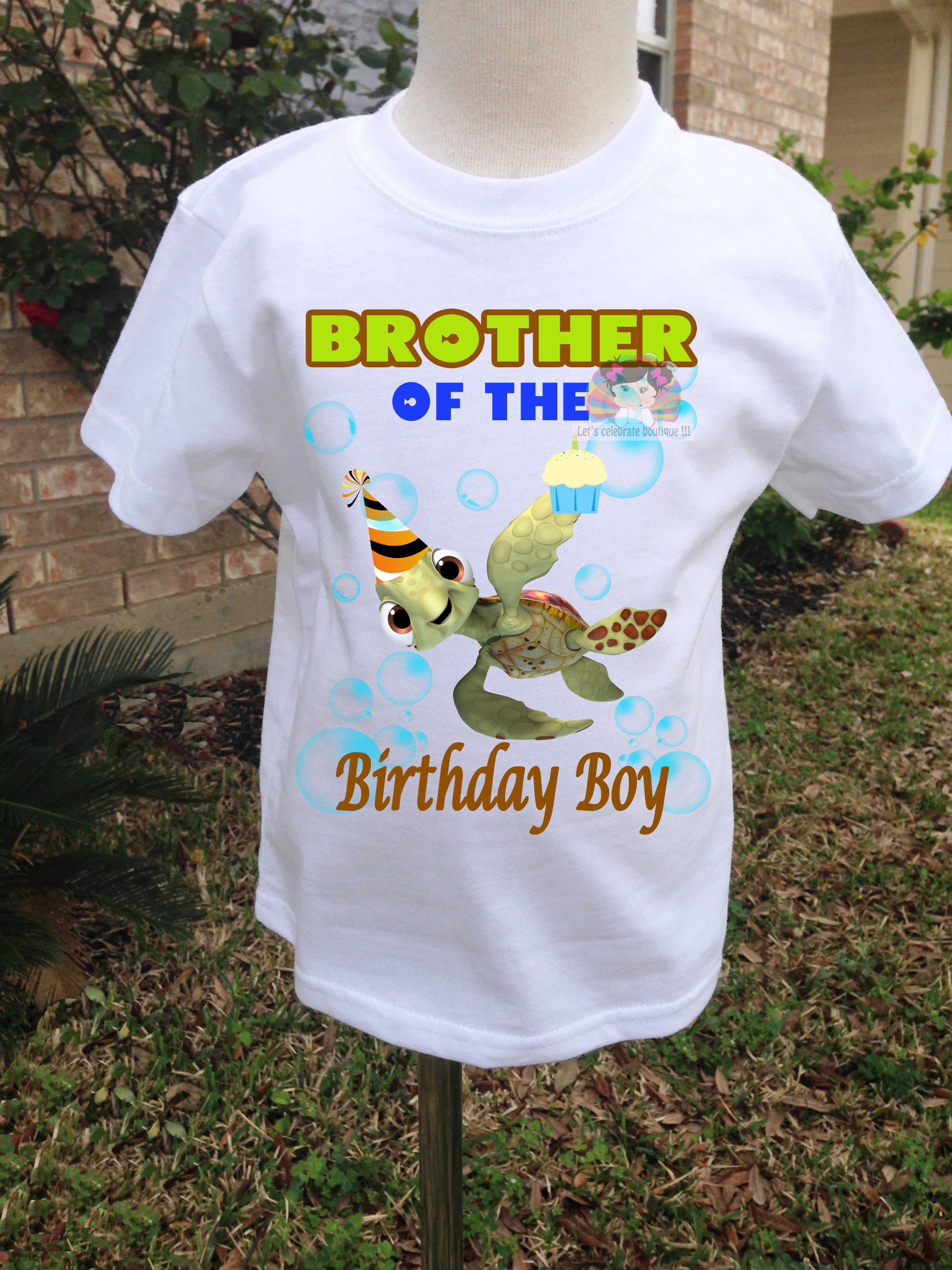 Brother Of The Birthday Boy Shirt Sea Party Shirt Nemo Brother Of