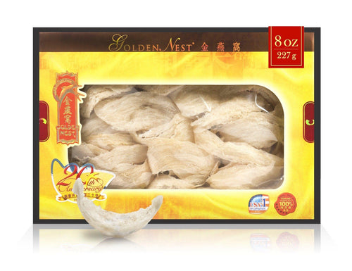 White Bird's Nest C - 227 Grams (8 Oz.) Edible Bird's Nest GOLDEN NEST