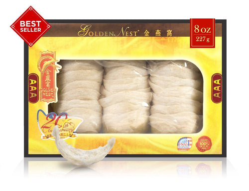 White Bird's Nest AAA – 227 Grams (8 Oz.) Edible Bird's Nest GOLDEN NEST