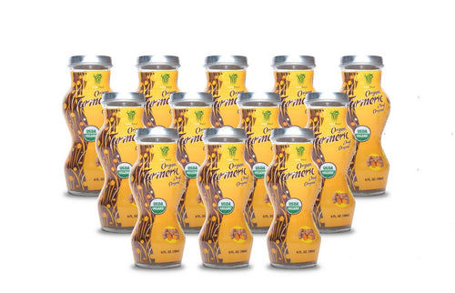 HEALTHEE Organic Turmeric Original - 12 bottles x 180 ml (6 oz.)