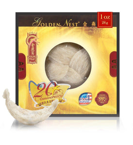 White Bird's Nest AA - 28 Grams (1 Oz.) Edible Bird's Nest GOLDEN NEST