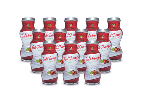 HEALTHEE Cherry Tart Juice - 12 bottles x 180 ml (6 oz.) Healthee Juices HEALTHEE