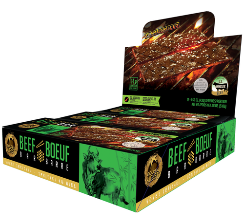 Beef Jerky Bar - Honey Teriyaki - 1.5 oz. x 12