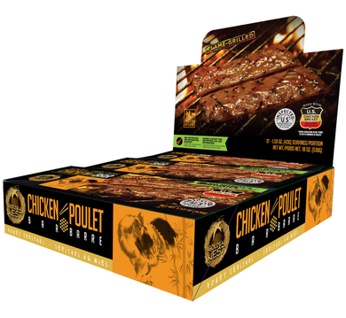 Chicken Jerky Bar - Honey Teriyaki - 1.5 oz. x 12