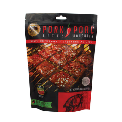 Pork Jerky Bites - Honey Sriracha - 4 oz