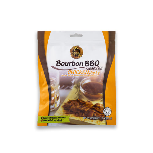 Golden Nest Jerky - Bourbon BBQ Seasoned Chicken Jerky Bites  ( 1 bag = 2.5 oz )