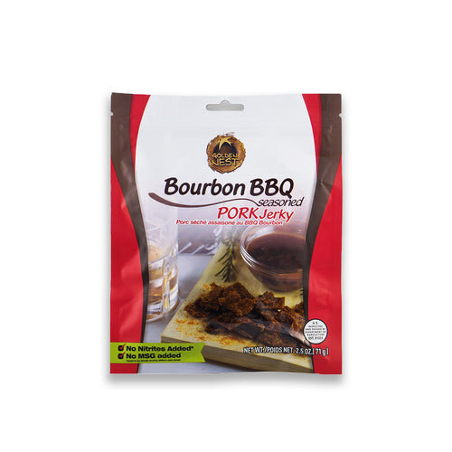 Golden Nest Jerky - Bourbon BBQ Seasoned Pork Jerky Bites  ( 1 bag = 2.5 oz )