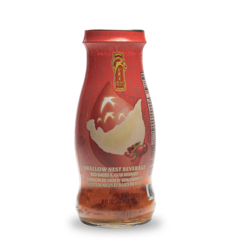 Premium Bird's Nest Drink - Red Dates & Goji Berries -  6 or 12 Bottles x 240ml (8 oz.)