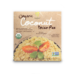 HEALTHEE Organic Coconut Brown Rice - 1 Case = 12 bowls x 216 grams (7.6 oz.) - Wholesale