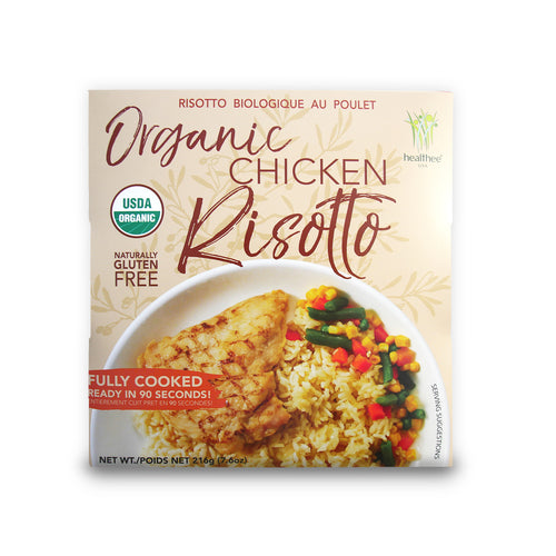 HEALTHEE Organic Chicken Risotto - 3 bowls x 216 grams (7.6 oz.)