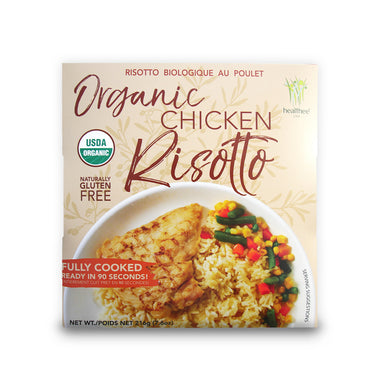 HEALTHEE Organic Chicken Risotto - 1 Case = 12 bowls x 216 grams (7.6 oz.) - Wholesale