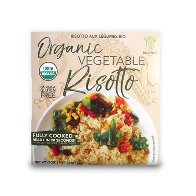 HEALTHEE Organic Vegetable Risotto - 1 Case = 12 bowls x 216 grams (7.6 oz.) - Wholesale.)