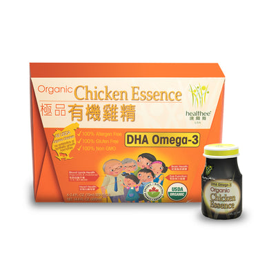 HEALTHEE Organic Chicken Essence With DHA Omega 3 - 6 bottles x 70 ml (2.4 oz.)