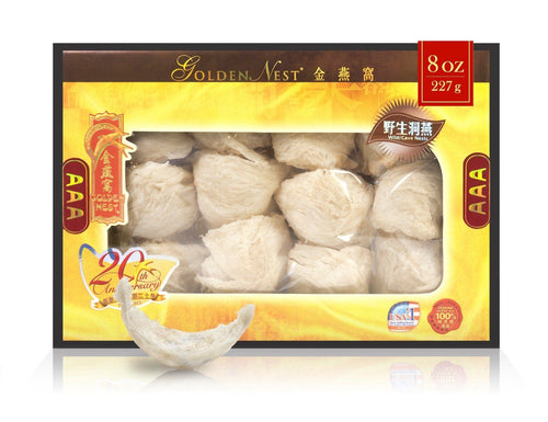 Wild Cave Bird's Nest AAA - 227 Grams (8 Oz.) Edible Bird's Nest GOLDEN NEST