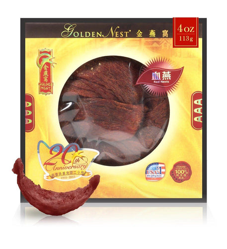Red Bird's Nest AAA - 113 grams (4 Oz.) Edible Bird's Nest GOLDEN NEST
