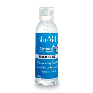 bluAid 70% Alcohol Advanced Hand Sanitizer - 2 fl oz ( Pack of 6 , 12 and 24 )