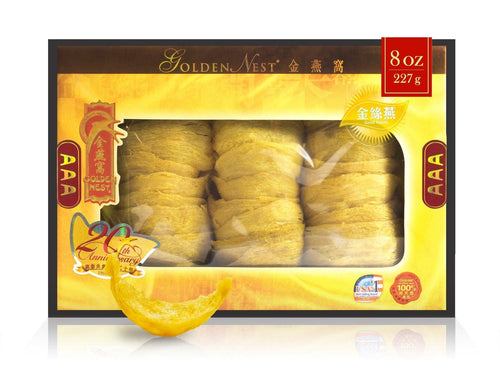 Gold Bird's Nest AAA – 227 Grams (8 Oz.) Edible Bird's Nest GOLDEN NEST