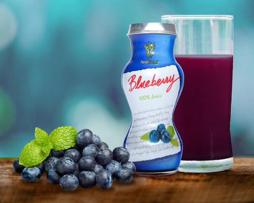 HEALTHEE Blueberry Juice - 12 bottles x 180 ml (6 oz.) Healthee Juices HEALTHEE